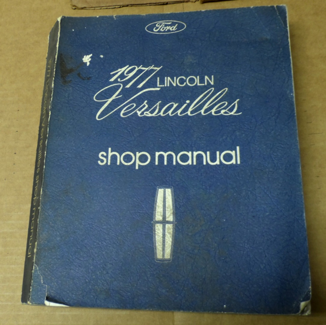 1958 To 1988 Lincoln Automotive Manuals Mark Iii Wiring Diagram 1977 Versailles Only Shop Manual 1 Volumes Used 6500 Cameragif 1031 Bytes