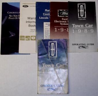 Lincoln Town Car Owners Manual Used