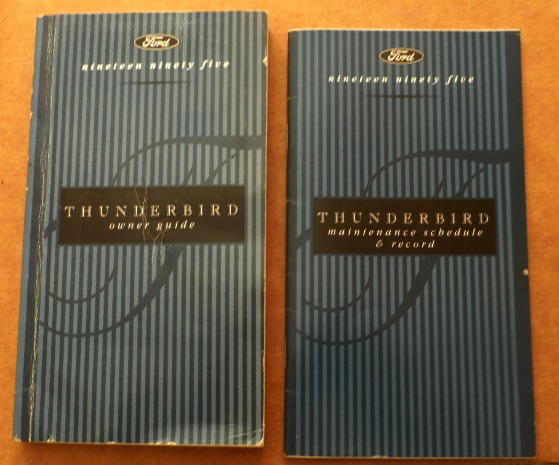 ford thunderbird owners manuals